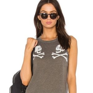 CHASER SKULL REFLECTED TANK TOP